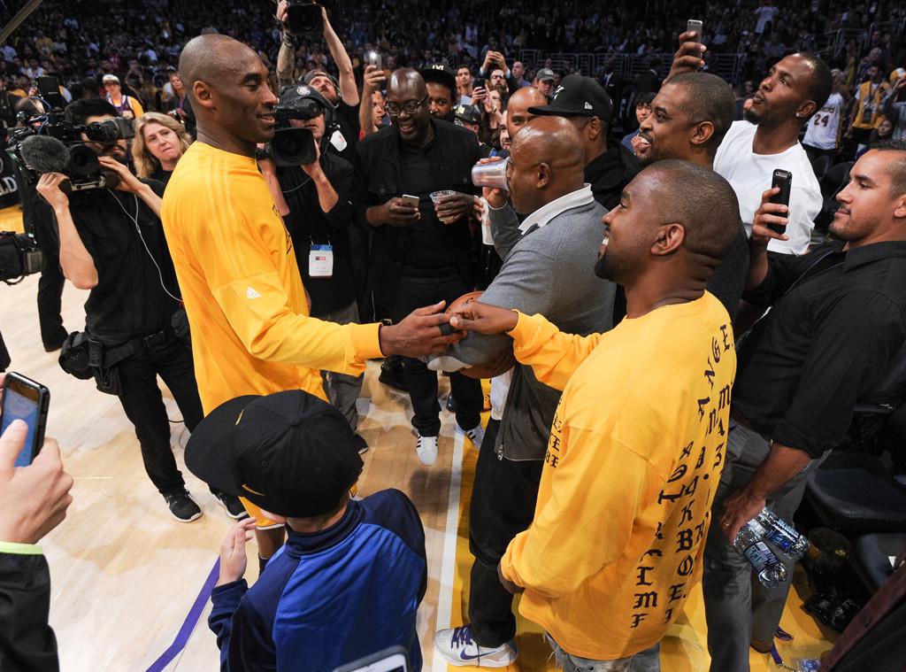 Kanye West, Kobe Bryant, Laker Game
