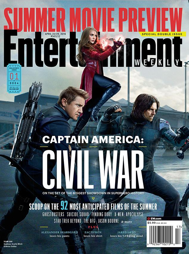 Captain America: Civil War Covers Preview Big Battle Ahead ...