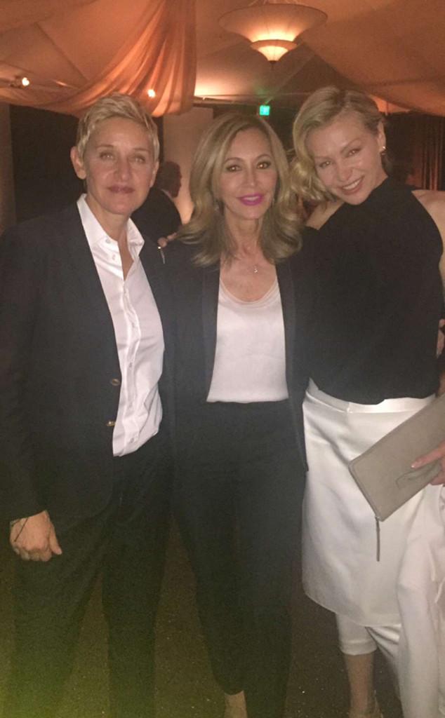 Ellen DeGeneres, Portia de Rossi, George Clooney, Hillary Clinton Fundraiser