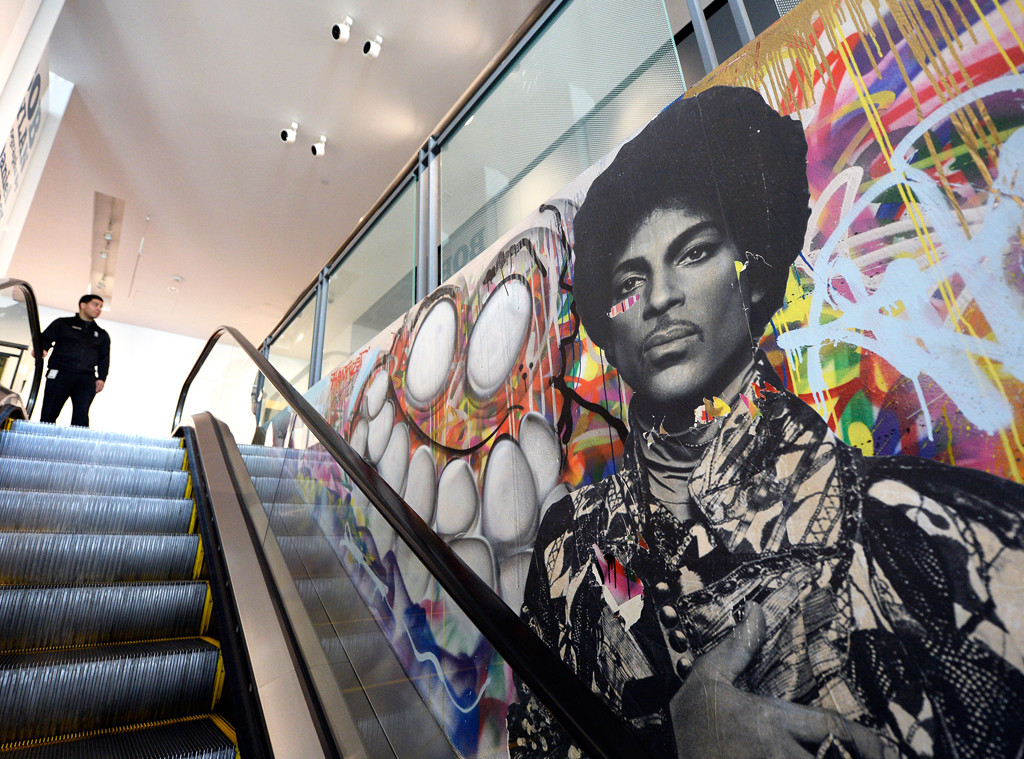 Prince, Obit, Grammy Museum Mural, LA