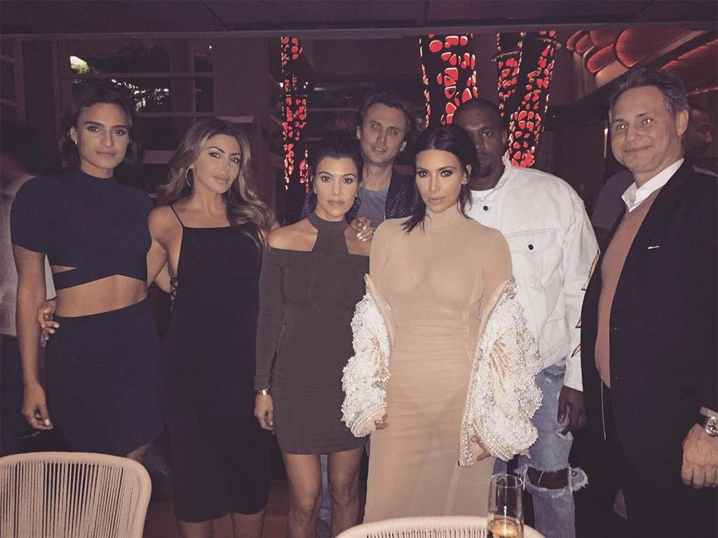 Kim Kardashian, Kourtney Kardashian, Kanye West, Miami