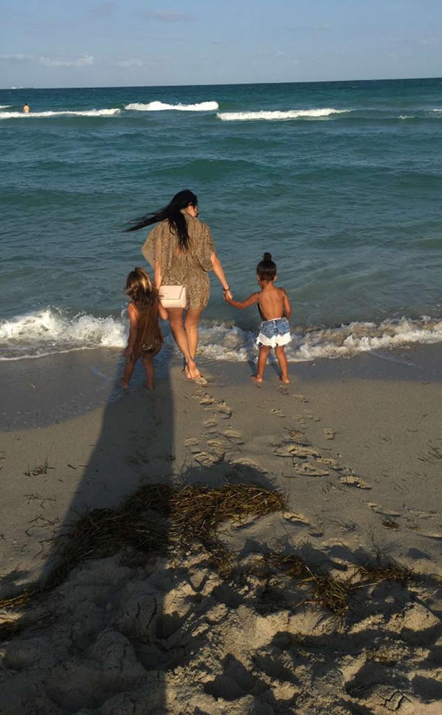 Kourtney Kardashian, Penelope Disick, North West, Miami