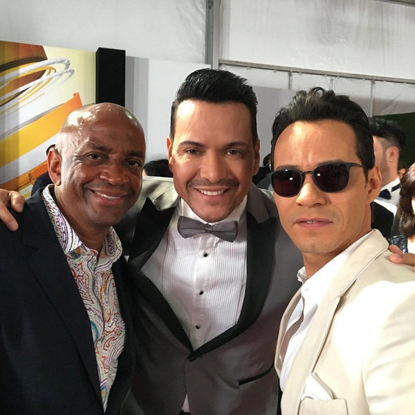 Marc Anthony, Sergio George, Victor Manuelle, 2016 Billboard Latin Music Awards, Instagram