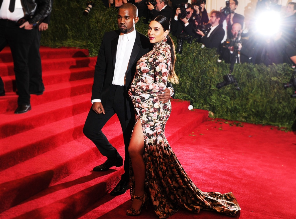 KKW's Big Debut - Kim Kardashian won't soon forget her very first Met Gala in 2013, where she (and a soon-to-be born North West ) arrived alongside Kanye West  in a publicly polarizing design by Givenchy. Two years later, KKW poked fun at herself by wearing the same floral design for Halloween.