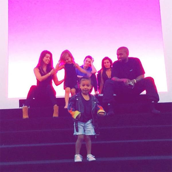 Kourtney Kardashian, Penelope Disick, Kendall Jenner, Kim Kardashian, Kanye West, North West