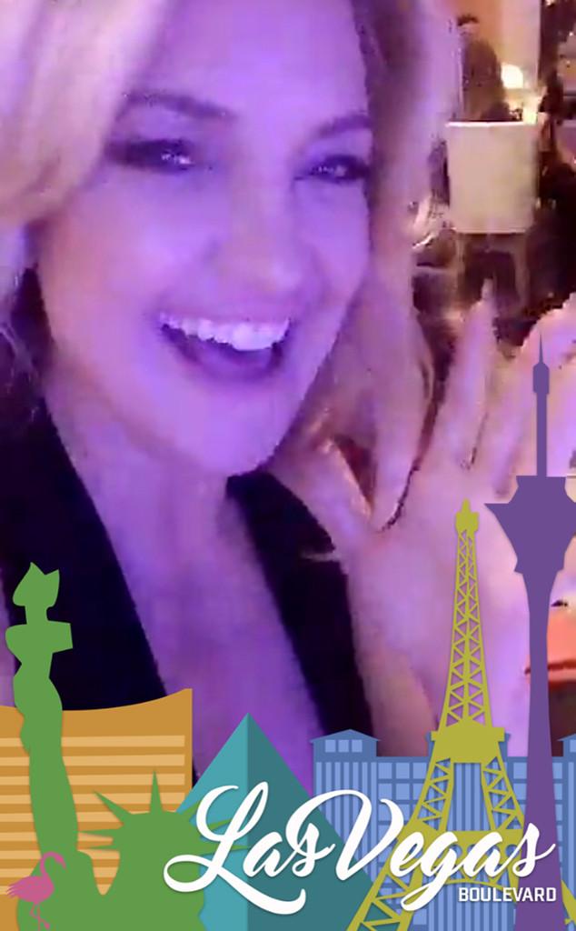 Kate Hudson, Las Vegas, Snapchat