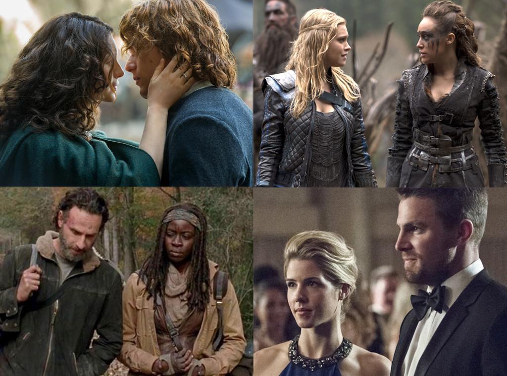 Best couple, Outlander, 100, Walking Dead, Arrow