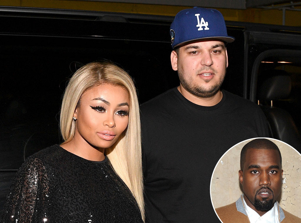 Kanye West Reacts To Rob Kardashian & Blac Chyna's