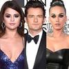 Katy Perry, Selena Gomez, Orlando Bloom
