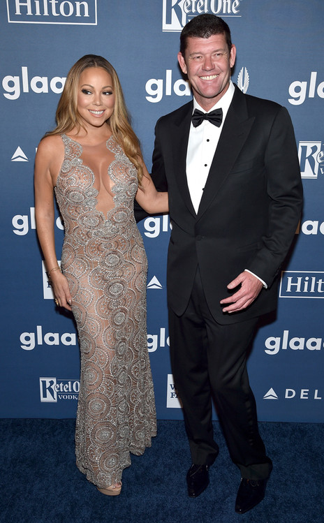 Mariah Carey, James Packe, GLAAD Media Awards 2016