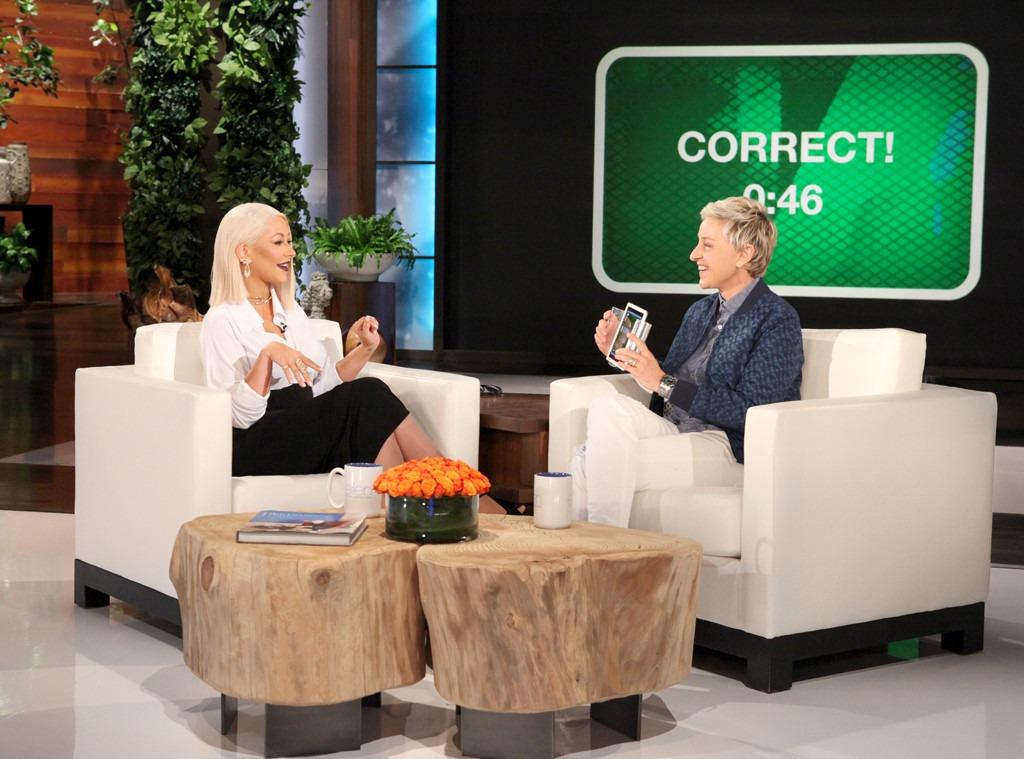 Christina Aguilera, Ellen DeGeneres