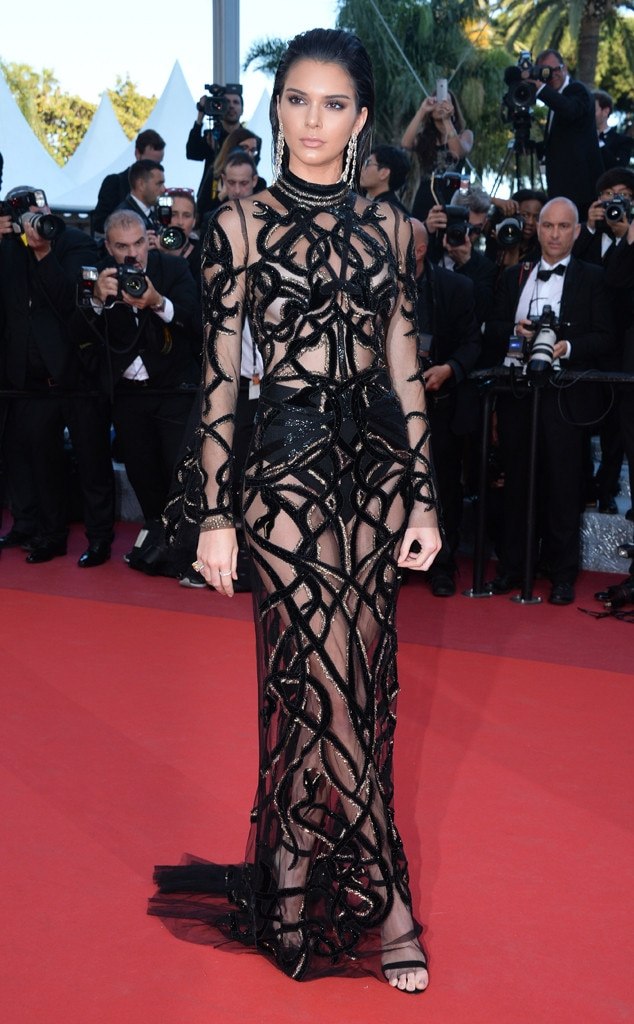 Kendall Jenner -  The 23-year-old supermodel makes the 2016 Cannes Film Festival her runway in this daring sheer black gown.