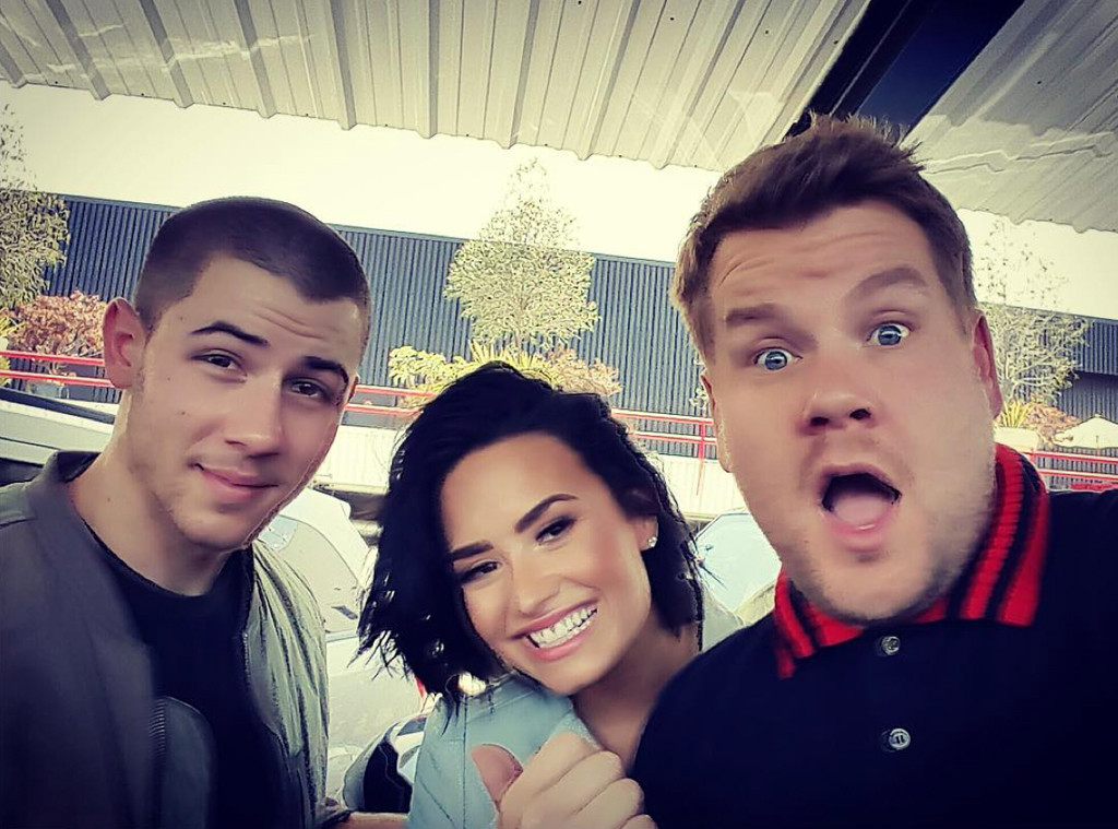 Nick Jonas, Demi Lovato, James Corden
