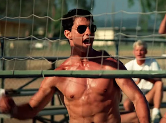 Top Gun, Tom Cruise, Volleyball