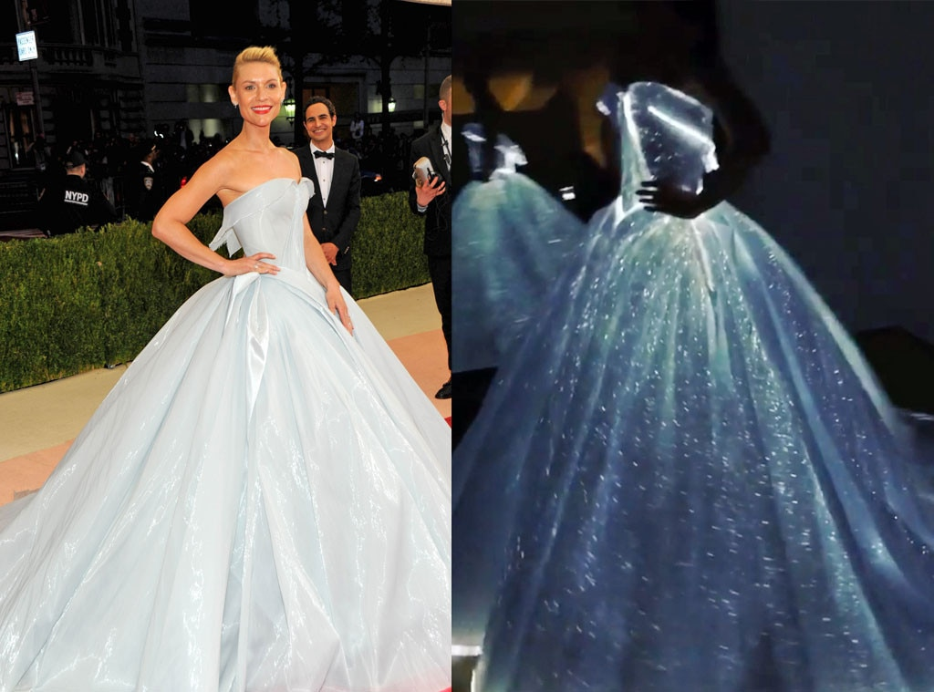 Belle of the Ball - Claire Danes  enjoyed a real life Cinderella moment when she arrived to the 2016 Met Gala in a light blue ball gown fit for the most regal of Disney princesses. Little did most know at the time, but the actress' Zac Posen design featured thousands of hand-sewn L.E.D. lights that illuminated the dance floor.