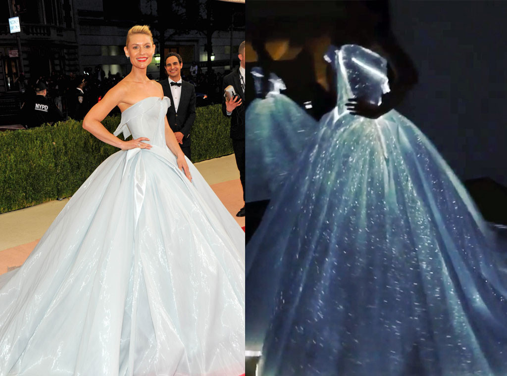 OMG! Claire Danes\' Met Gala 2016 Gown Lights Up in the Dark—See the ...