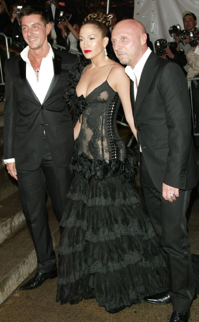 Stefano Gabbana, Domenico Dolce, Jennifer Lopez, First Met Gala