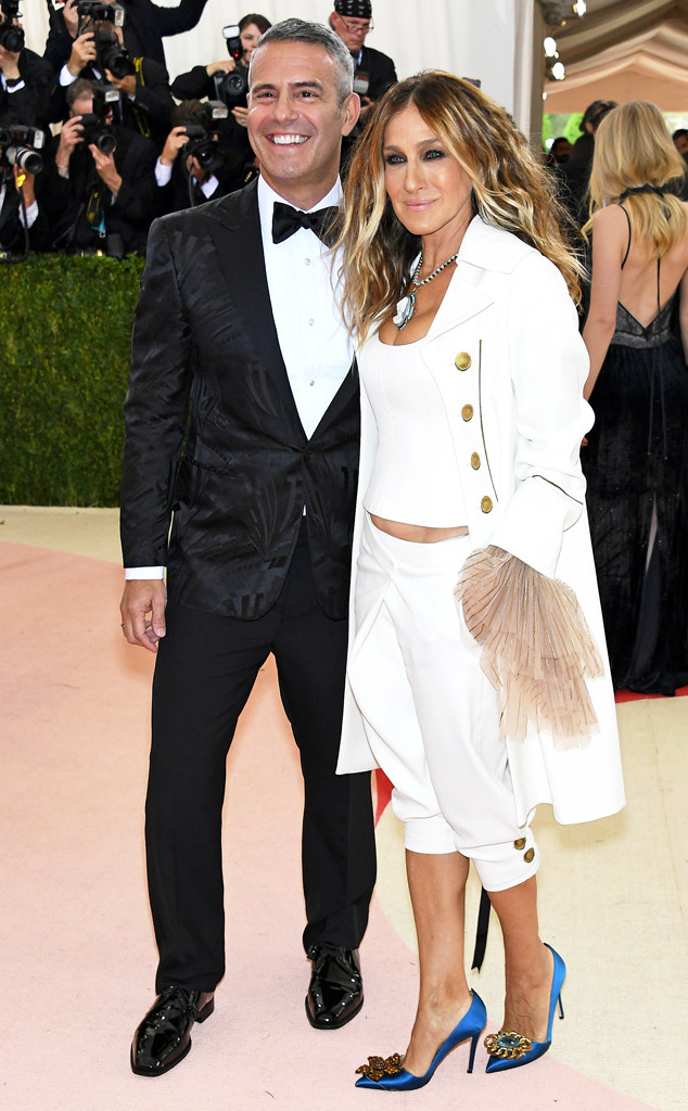 Sarah Jessica Parker, Andy Cohen, MET Gala 2016, Arrivals, Bff