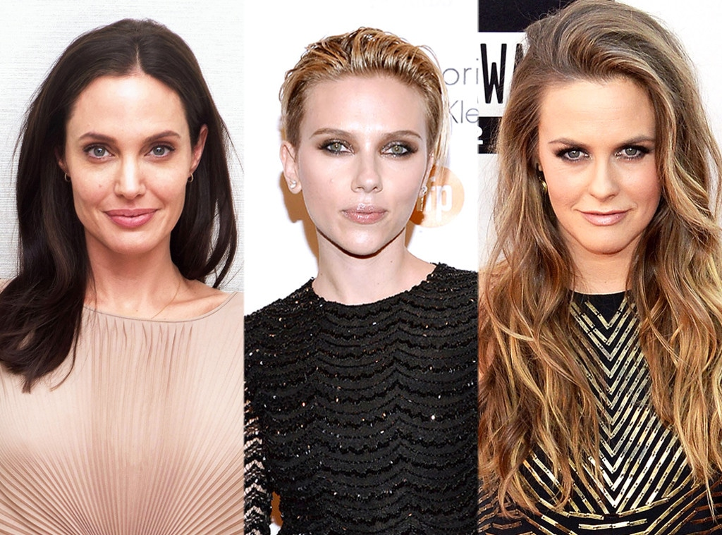 Angelina Jolie, Alicia Silverstone, Scarlett Johansson