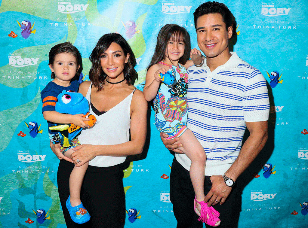 Mario Lopez, Courtney Lopez, Dominic & Gia