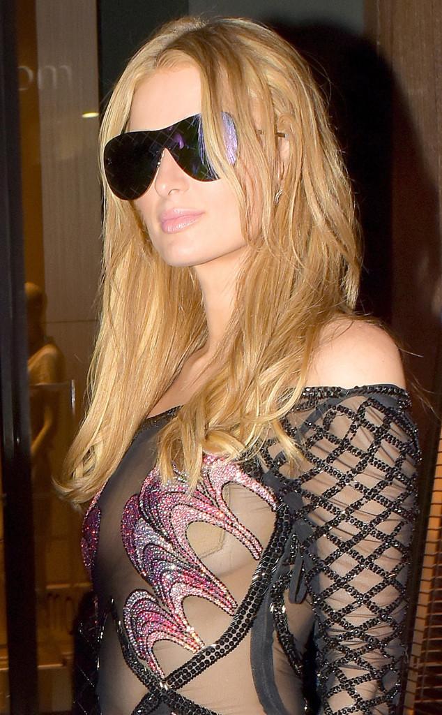 Paris Hilton Has a Wardrobe Malfunction While Wearing a