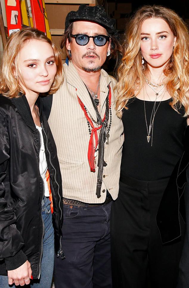Amber Heard, Johnny Depp, Lily-Rose Depp