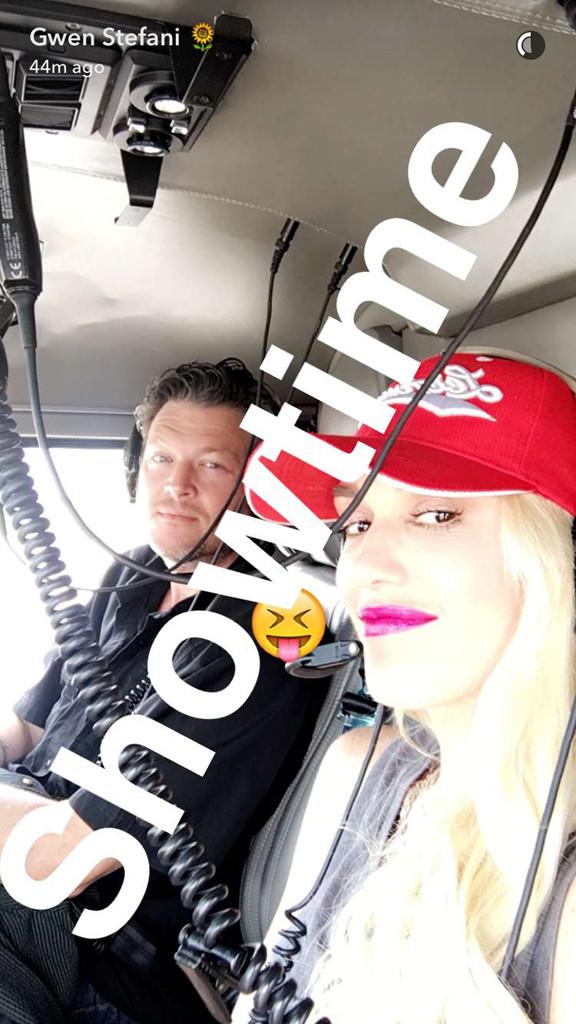 Blake Shelton, Gwen Stafani, Snapchat