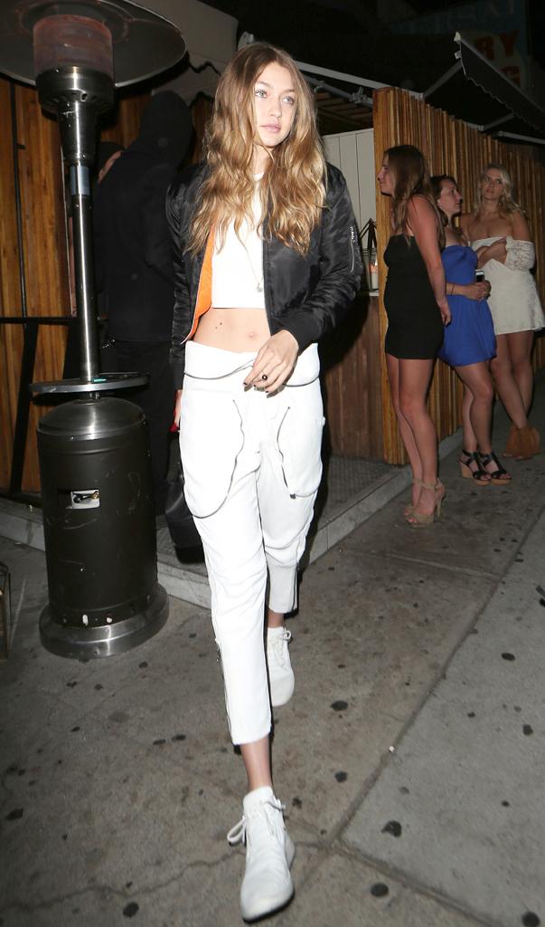 Gigi Hadid, White Jeans