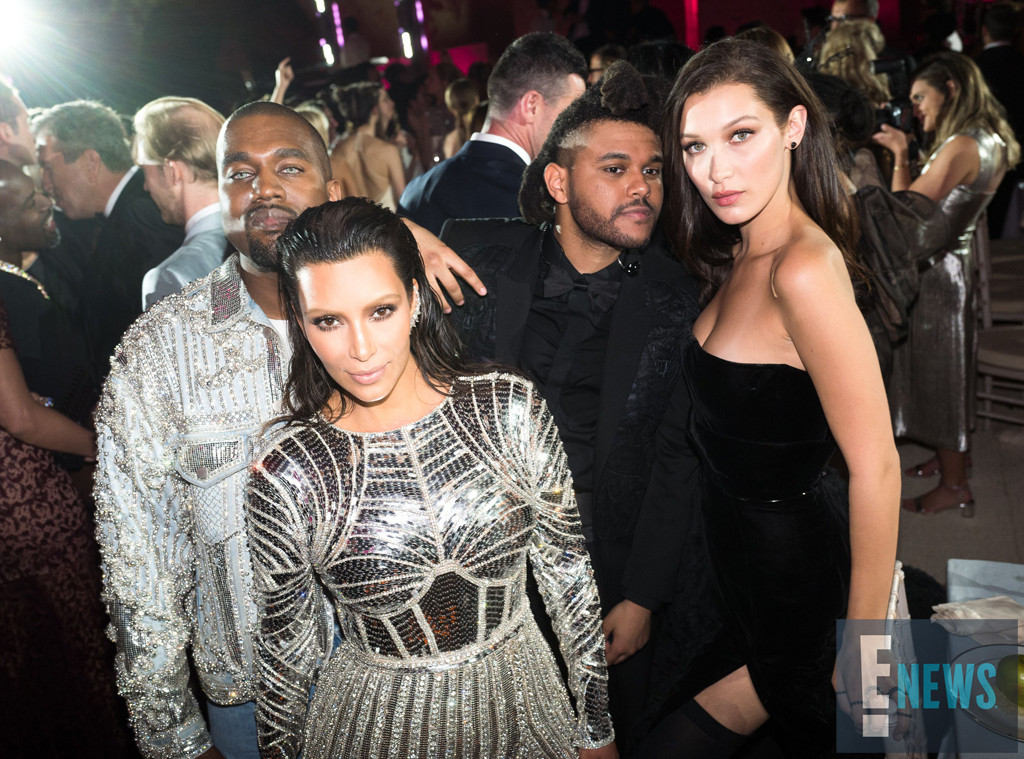 Kanye West, Kim Kardashian, The Weeknd, Bella Hadid, MET Gala 2016, Inside Party Pics, Exclusive
