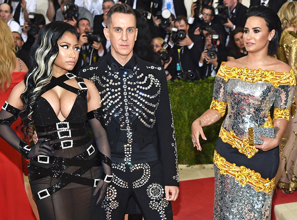 """Three's a Crowd -  They say a picture is worth a thousand words, but this one of Jeremy Scott  sandwiched between his 2016 Met Gala dates Nicki Minaj  and Demi Lovato is worth so much more. After the former Disney star accused the rapper of throwing """"shade"""" on Instagram, she further alluded to the awkward event in an interview  with  Billboard  ."""