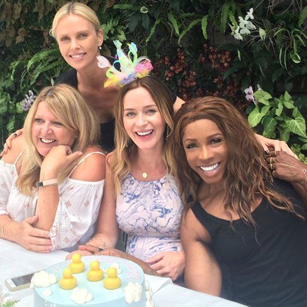 Emily Blunt, Charlize Theron, Baby Shower