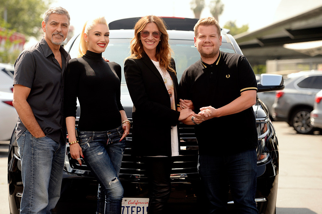George Clooney, Gwen Stefani, Julia Roberts, James Corden, The Late Late Show