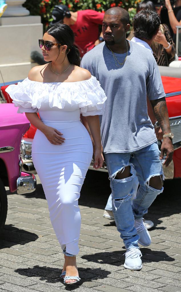 Kim Kardashian Wears Skintight White Dress Exploring Cuba