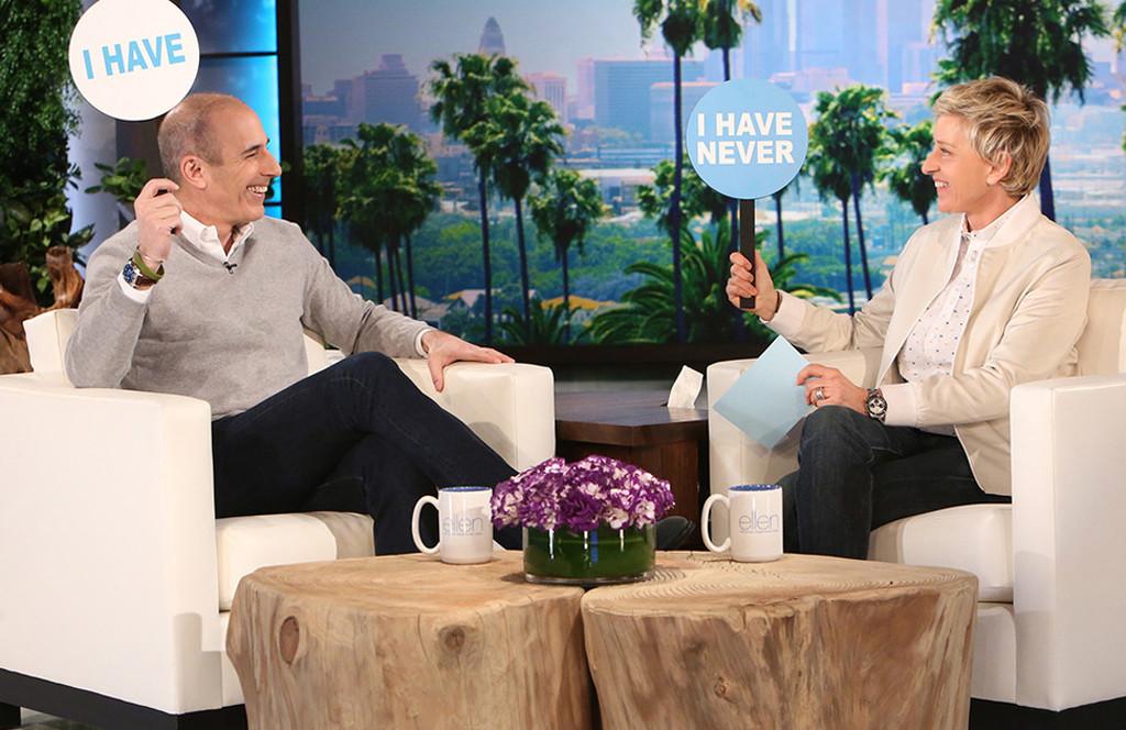 Matt Lauer, Ellen Show, Never Have I Ever