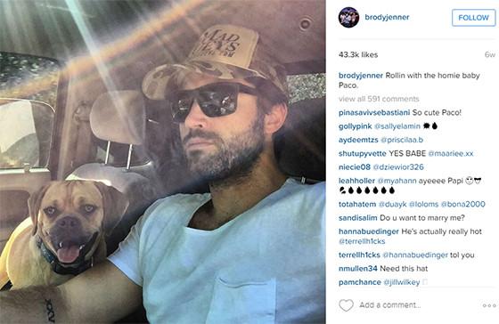 Brody Jenner, Instagram