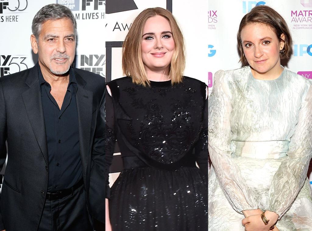 George Clooney, Adele, Lena Dunham