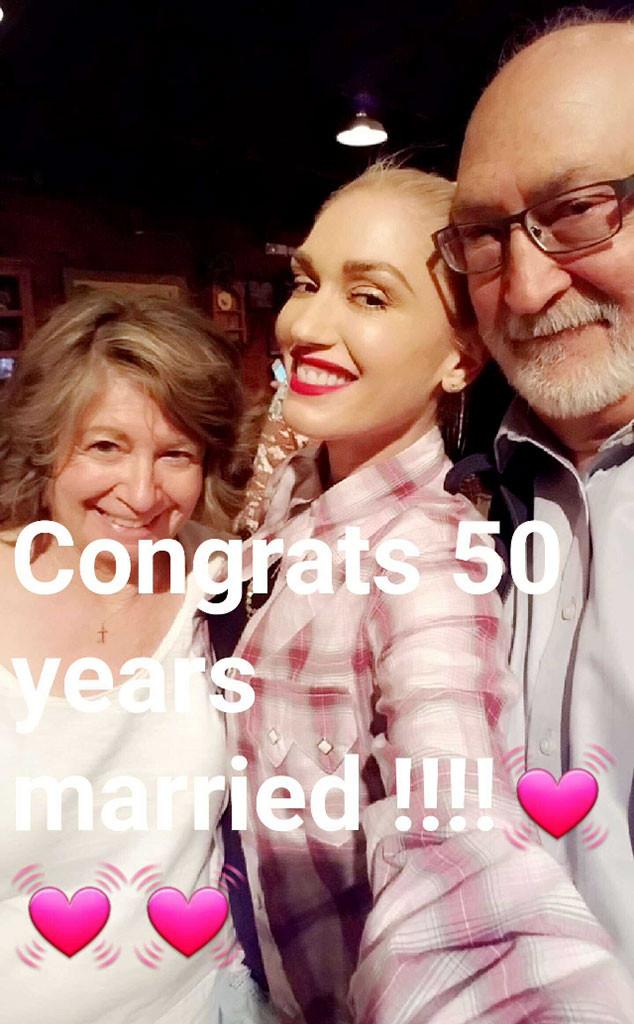 Gwen Stefani, Parents, Snapchat