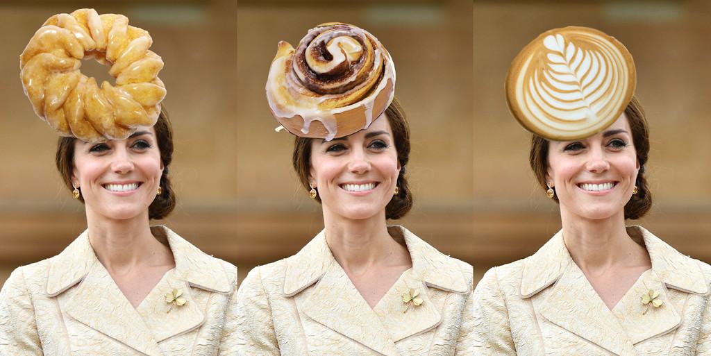 Kate Middleton, Catherine Duchess of Cambridge, Cruller, Cinnabun, Latte Art