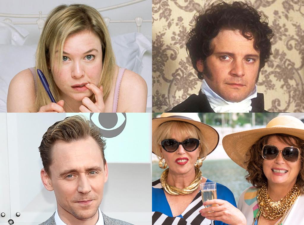 Colin Firth, Renee Zellweger, Tom Hiddleston, Joanna Lumley, Jennifer Saunders, British Things