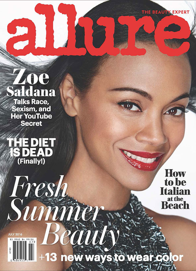 Zoe Saldana, Allure Cover, July 2016