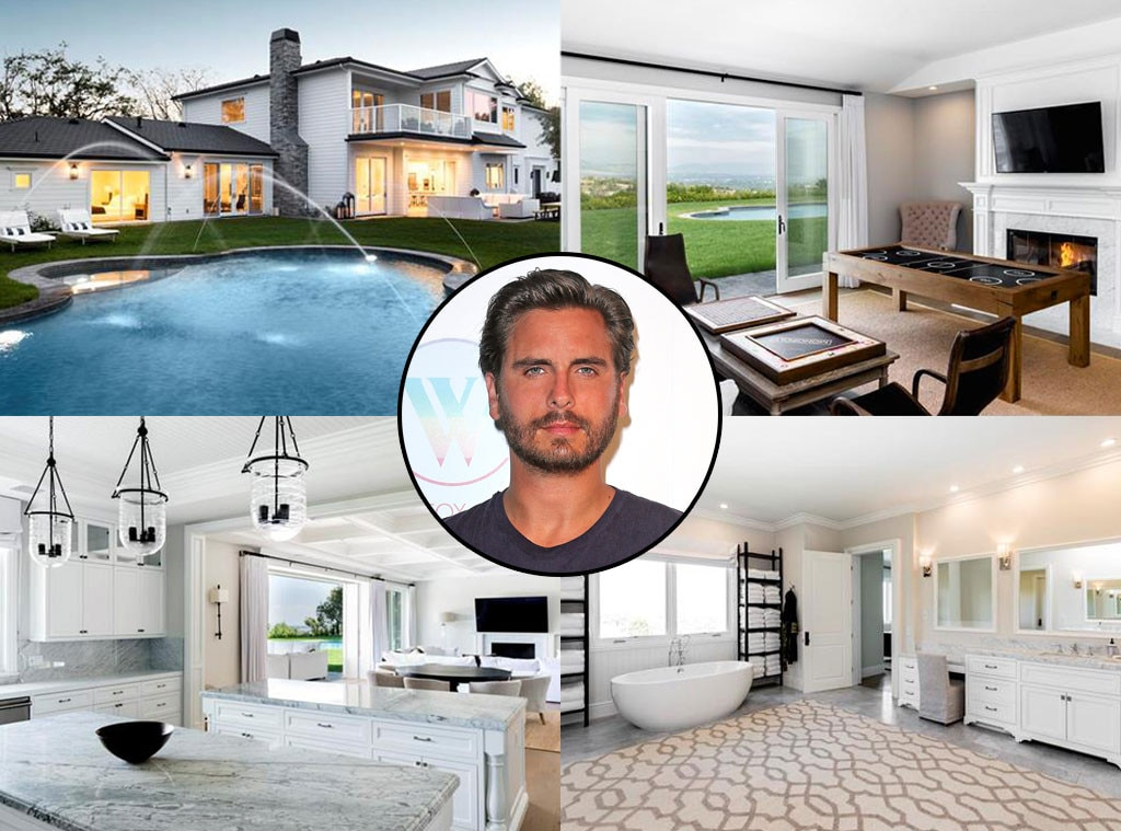 Scott Disick -  When the Lord and  Kourtney Kardashian  ended their eight-year relationship, the father of three moved into a Hamptons-meets-California mansion right down the street from  Kris Jenner ,  Kim Kardashian  and  Kylie Jenner . Six months later, he put it  back on the market  for $8.8 mill.