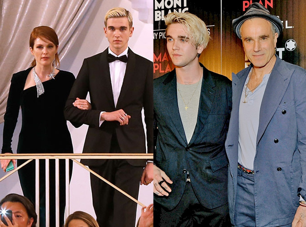 Daniel Day-Lewis & Gabriel-Kane Day-Lewis -  The Last of the Mohicans  and Lincoln  star's young adult son, whose mother isFrench actress  Isabelle Adjani , made his big runway debut at 2015Paris Fashion Week, walking into the Chanel show with  Julianne Moore .
