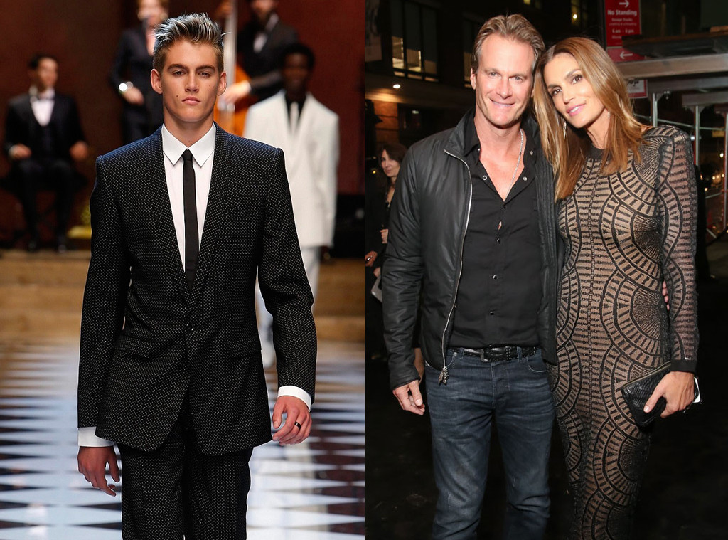 Rande Gerber, Cindy Crawford, Presley Gerber, Celeb Kids Who Model