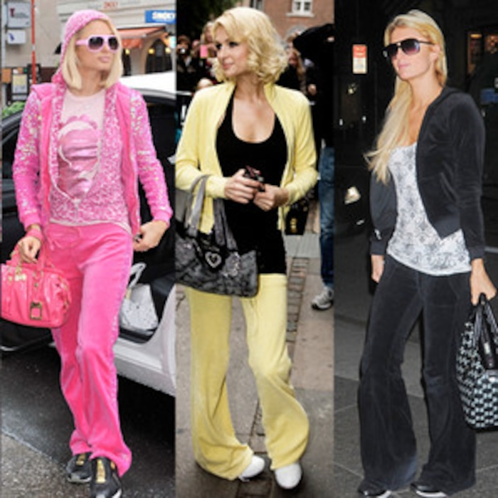 4c9f3fd6d4 Juicy Couture Tracksuits Are Back  Celebrate by Remembering Paris Hilton  and Her Rainbow of Velour