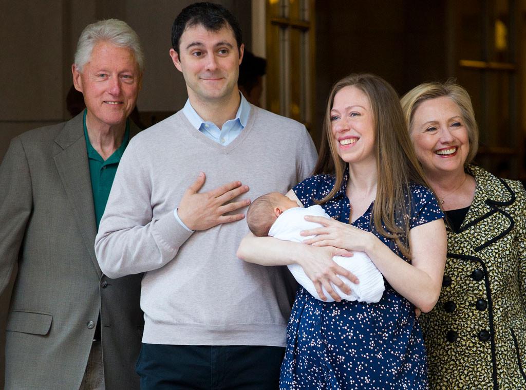 Bill Clinton, Mark Mezvinshy, Chelsea Clinton, Hillary Clinton