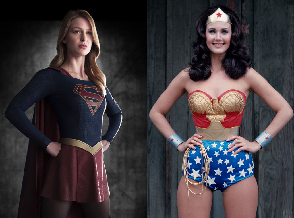 Lynda Carter, Wonder Woman, Melissa Benoist, Supergirl