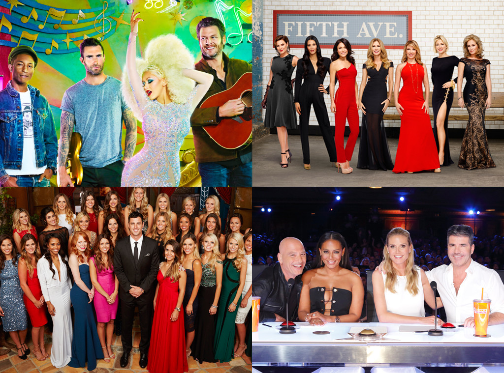 TV Awards, The Voice, Real Housewives of New York, America's Got Talent, The Bachelor