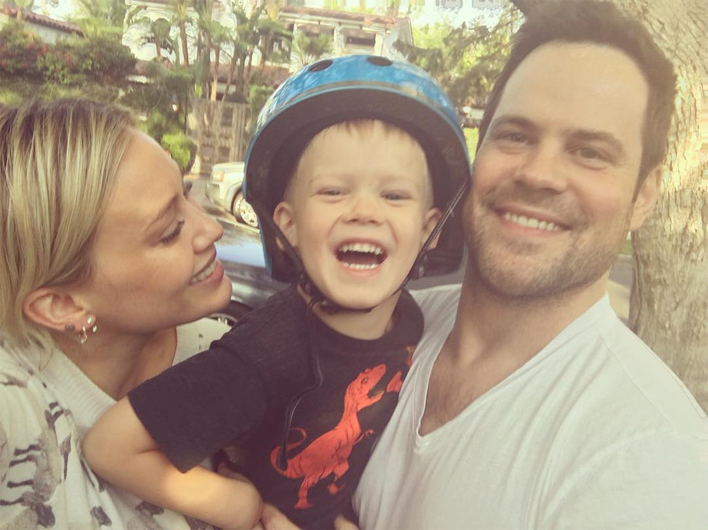 Hilary Duff, Son Luca, Mike Comrie