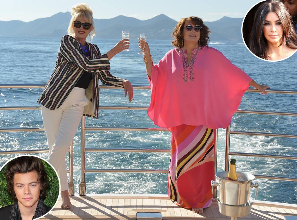 Ab Fab Movie, Joanna Lumley, Jennfier Saunders, Kim Kardashian, Harry Styles