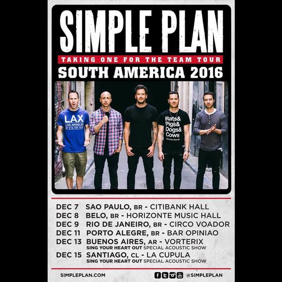 Simple Plan, America do Sul